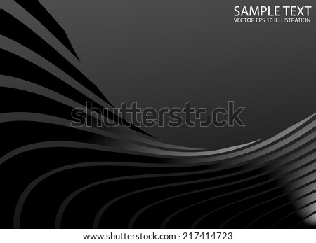 Silver metal abstract swirled background template - Vector abstract shape background illustration - stock vector