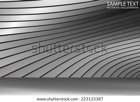 Silver reflected vector abstract background illustration - Abstract metal reflected  background design illustration - stock vector