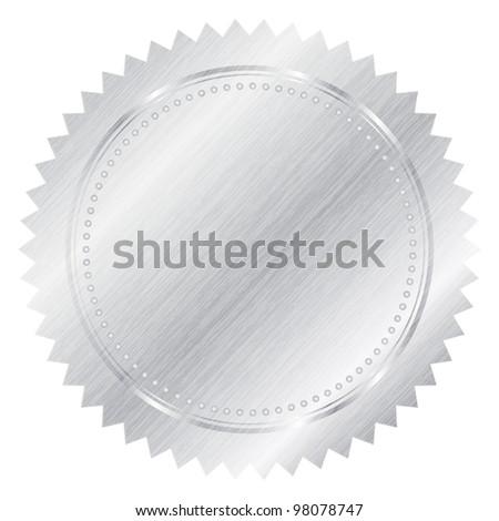 Silver seal - stock vector