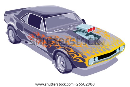 silver sports car - stock vector