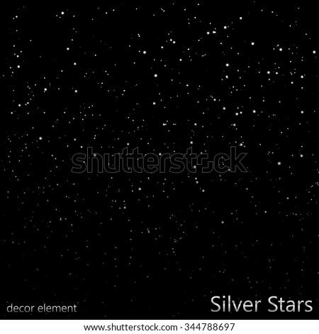 Silver Stars (overlay) | EPS10 Vector - stock vector