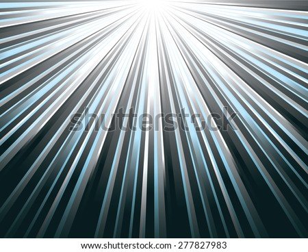 Silver Vector Rays. Abstract Modern Background. - stock vector