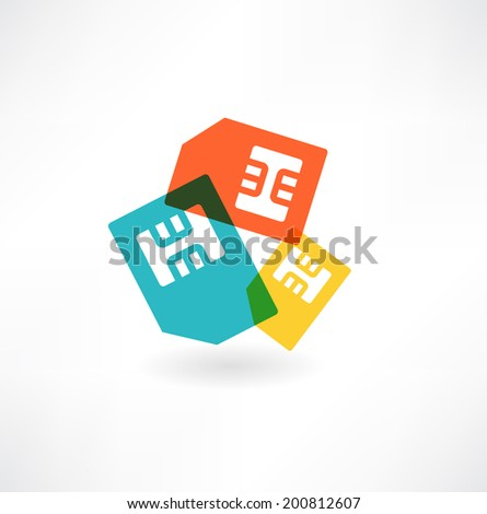 SIM Card Icon - stock vector