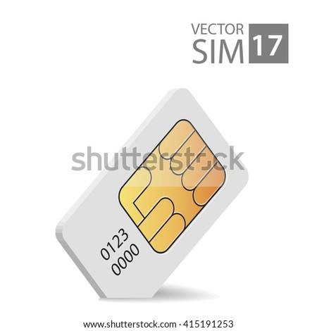SimCardVectorImage2 - stock vector