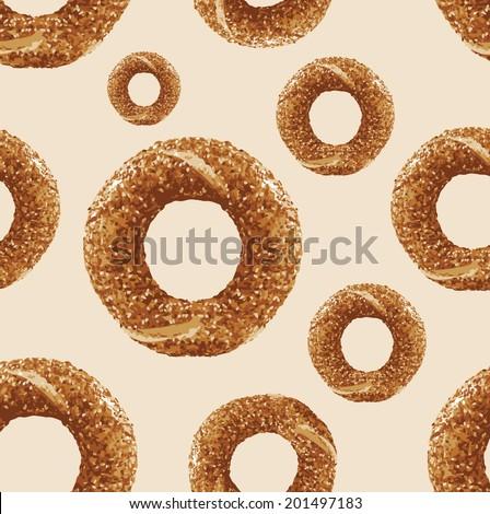 Simit vector - Turkish bagel - stock vector