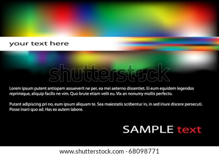 Simple abstract background with splashes of color - stock vector