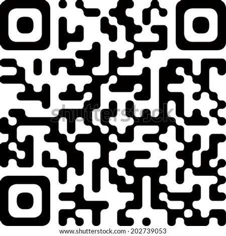 Simple abstract QR code label.  - stock vector