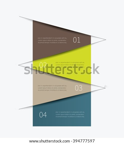 simple and clean tabular graphic for business background / vector infographic table - stock vector