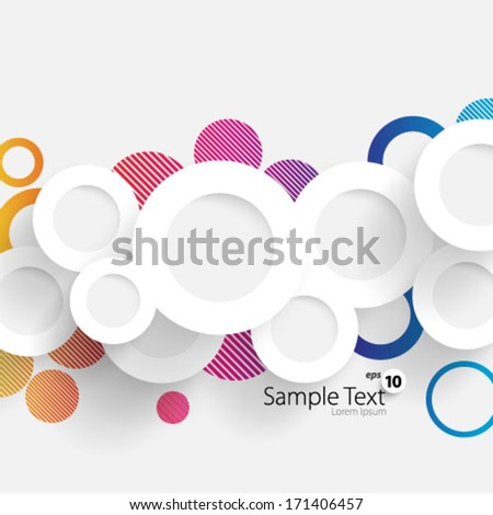 Simple and Colorful Circles Background - stock vector