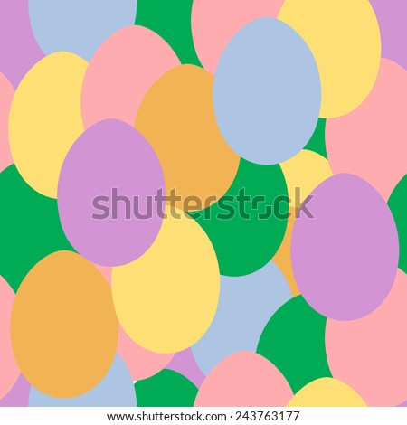Simple and cute varicolored eggs seamless pattern. Vector eps10 illustration. - stock vector