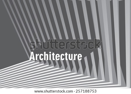 simple architecture background with stripes facade - stock vector