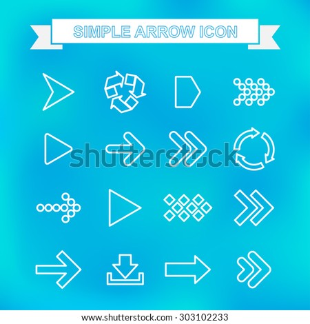 Simple arrow icon with unfocused background - stock vector