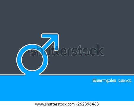 Simple background design with male sex symbol  - stock vector