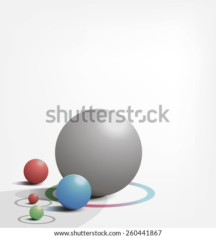 simple background with colored balls - stock vector