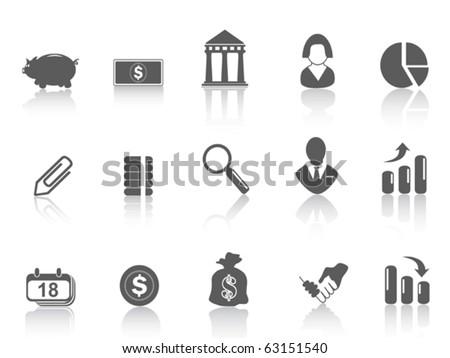 simple bank icon - stock vector