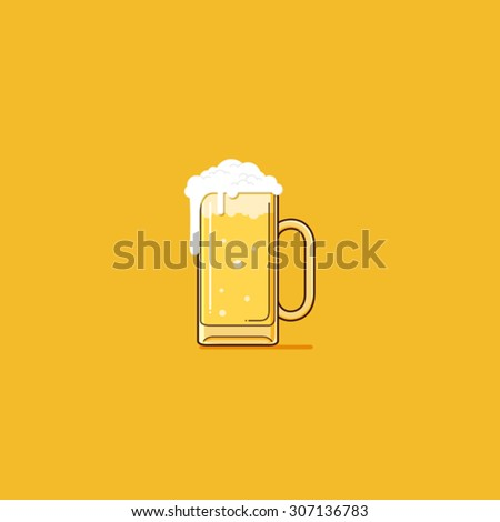 Simple Beer  - stock vector