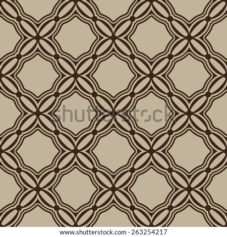 Simple Brown seamless wallpaper pattern vector illustration  - stock vector