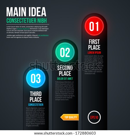 Simple chart template for web design. EPS 10 - stock vector