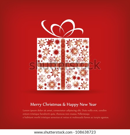 Simple Christmas card with a tree - stock vector