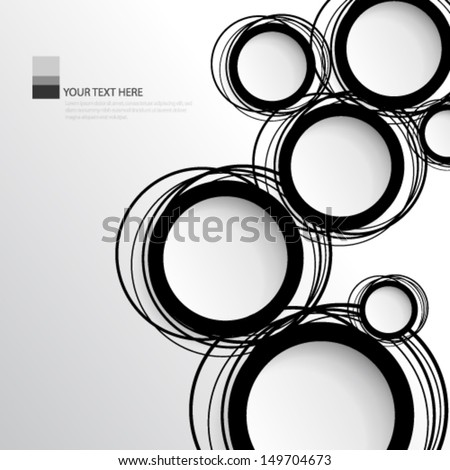 Simple Circles Background - stock vector