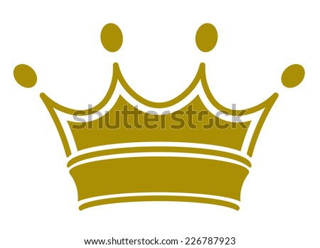 Simple classic royal crown. Vector illustration, you can simply change color - stock vector