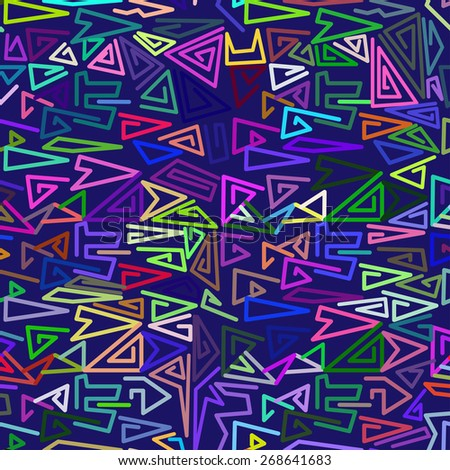 simple colors seamless pattern with abstract triangle - stock vector