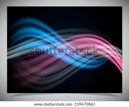 Simple dark abstract wave background. Vector illustration - stock vector