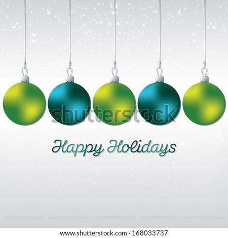 Simple, elegant bauble Christmas card in vector format. - stock vector