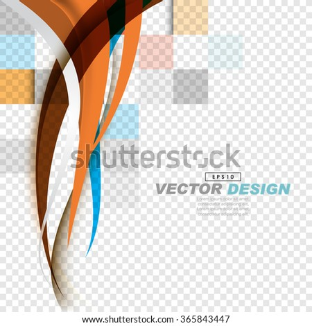 simple elegant corporate overlapping wave elements background - stock vector