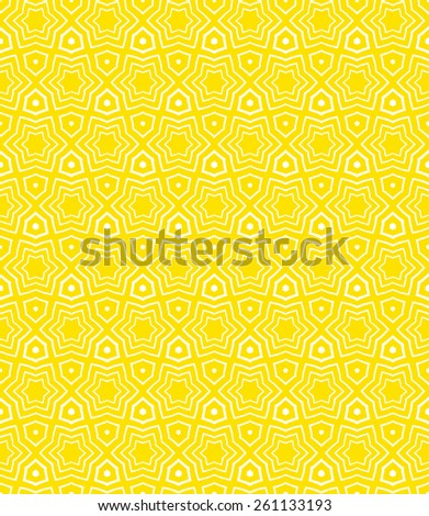Simple elegant linear vector pattern in 1920s style. Modern art deco background with lines and geometric ornament in bright yellow color - stock vector