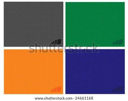 Simple Four Color Background - stock vector