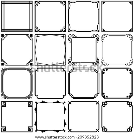 Simple frames - stock vector
