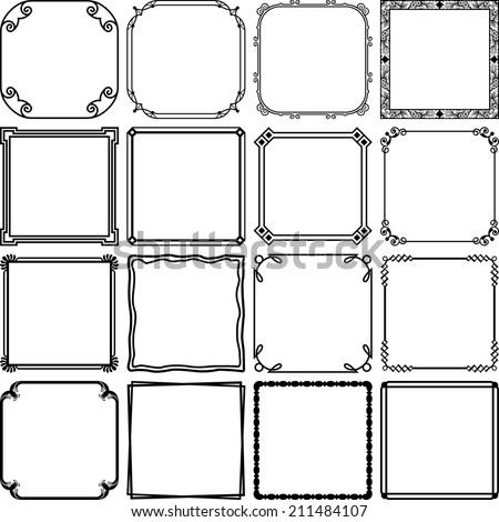 Simple frames - stock vector
