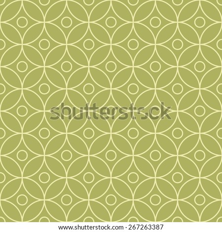 Simple geometric seamless pattern with circles. - stock vector