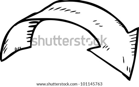 simple hand drawing of arrow - stock vector