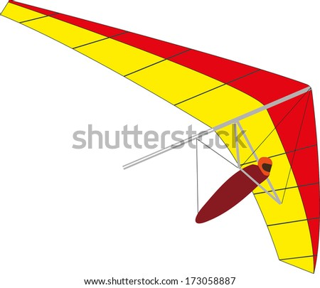 Simple hand-glider - stock vector