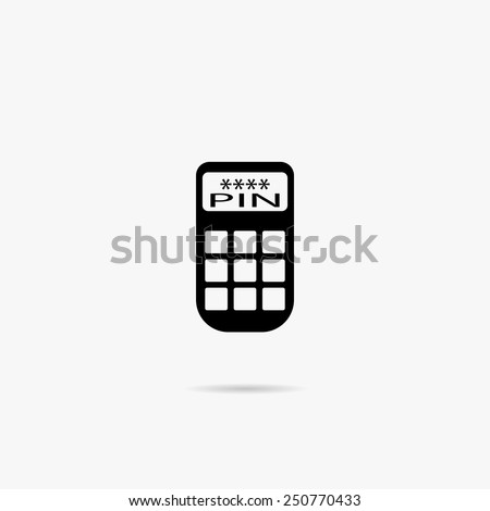 Simple icon ATM keypad and POS-Terminal. - stock vector