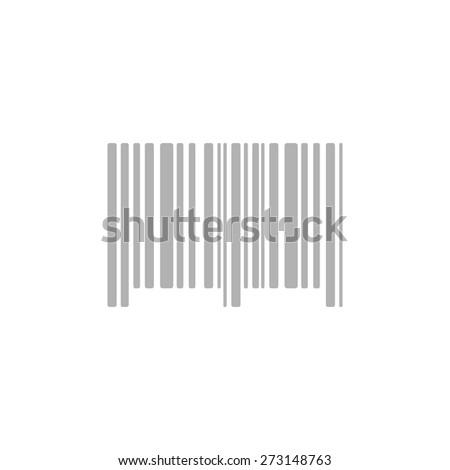 Simple icon bar code . - stock vector