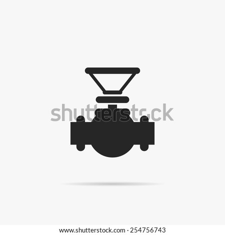 Simple icon connecting pipes valve. - stock vector
