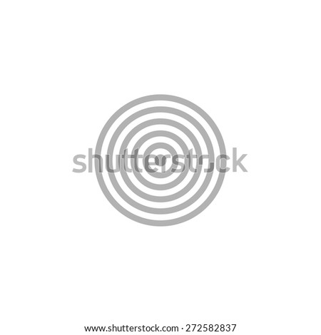 Simple icon darts target. - stock vector
