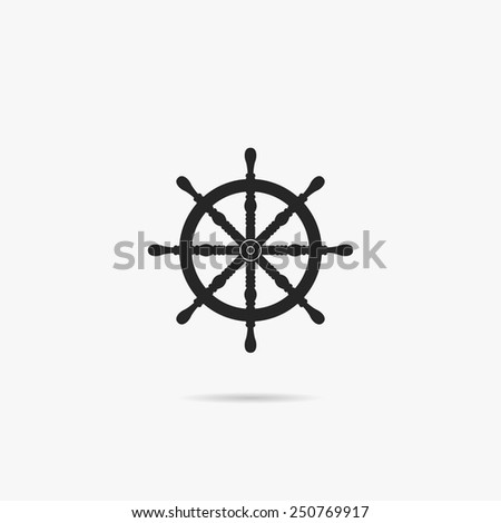 Simple icon helm. - stock vector