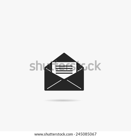 Simple icon letter in an envelope. - stock vector