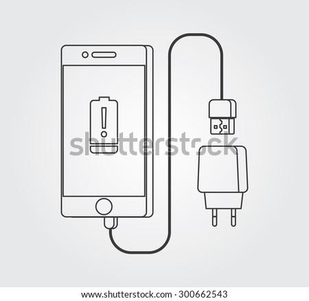 Simple Icon: Mobile Accessories - stock vector