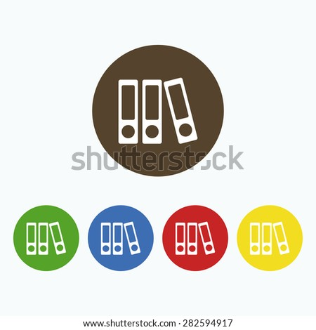 Simple icon of several books. - stock vector