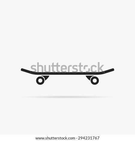 Simple icon skateboard. - stock vector