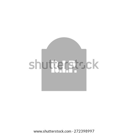 Simple icon tombstone. - stock vector