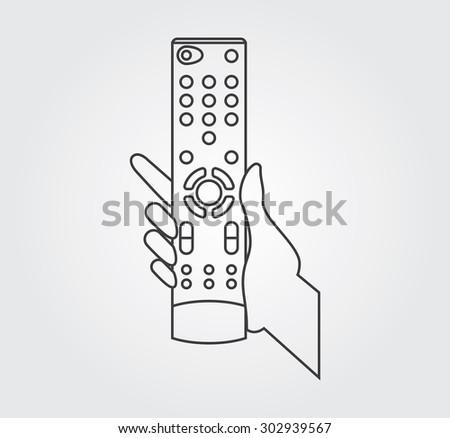 Simple Icon: TV remote control - stock vector