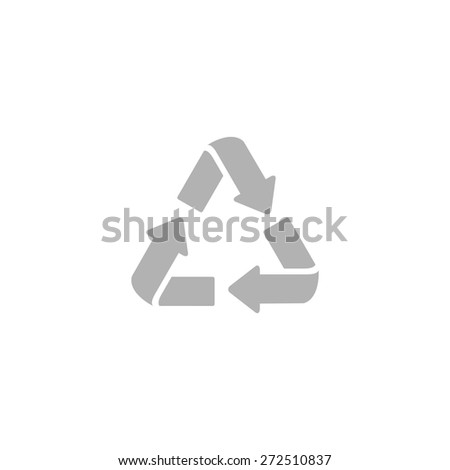 Simple icon waste processing. - stock vector
