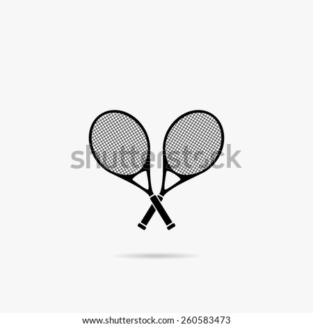 Simple icons on a theme of great tennis. - stock vector