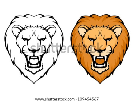 Simple lion head clipart - photo#2